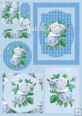 Country Flowers Blue Haze Frames Plus Topper Card Sheet