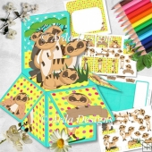 A Meeting Of Meerkats Pop Up Box Card
