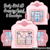 Baby Girl 3D Scenery Card & Envelope