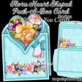 Flora Heart Shaped Peek-A-Boo Card