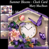 Summer Blooms - Clock Card