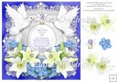 Sapphire Wedding Anniversary 8 x 8 Floral Lily & Forget Me Nots