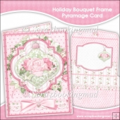 Holiday Bouquet Frame Pyramage Card and Envelope
