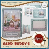 Winter Church Rounded Corner Fold Card Kit