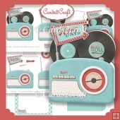 Retro radio shaped card