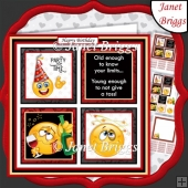 THE WINE DRINKER Humorous 7.5 Quick Card Decoupage & Insert Kit