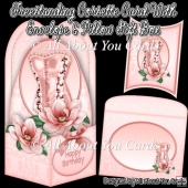 Freestanding Corsette Card & Envelope & Pillow Gift Box