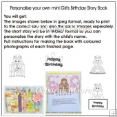 Personalise Your Own Girls Mini Birthday Story Book