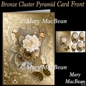 Bronze Cluster Pyramid Card