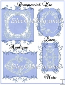Commercial Use Blue Lace Applique Mats