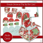 Fireside Christmas Pop Up Box Card