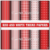 Red And White Theme Papers