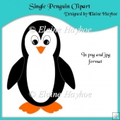 Single Penguin Clipart