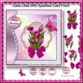 Calla Lilies With Sparkles Card Front
