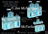 Snowflake Princess Party Novelty Castle Gift'Storage Box