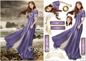 Lady Guinevere (purple) With Matching Insert
