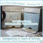 Cocoa Pack Dispensing Box - Christmas Set 2