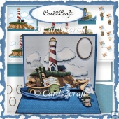 Large nautical easel card set