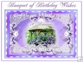 A Bouquet of Birthday Wishes Mirrored Topper with Decoupage
