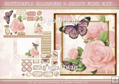 BUTTERFLY BLOSSOMS 4 SHEET MINI KIT Light Pink