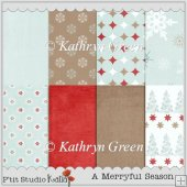 8 Elegant Seasonal Backing Papers in A4 format