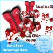 Santa Baby Decoupage Sheet