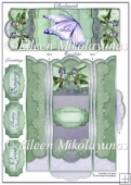 Cottage Chic Butterfly Bookmark and Envelope Holder