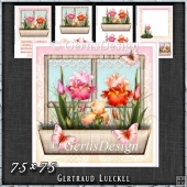 Flower Window Spring Iris Card Kit 1418