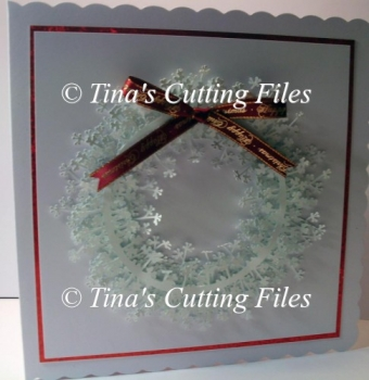 Christmas Wreath branch/twig detailed card / gift topper