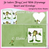 Je t'adore - Frog Card With Pyramage