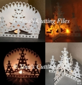 Luminaire / Ornament Christmas Trees Cutting Machine File