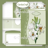 White lily card set