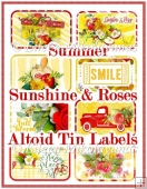 Summer Sunshine and Roses Altoid Tin Labels