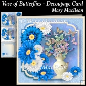 Vase of Butterflies - Decoupage Card