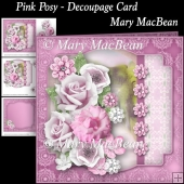 Pink Posy - Decoupage Card