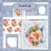 Lace and roses card set