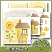 Shaped Home Decoupage Card