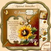 Sunflower & Verse 8x8 Birthday Decoupage Kit