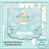 Joyful Hearts Snowman 2 Drop Down Flap Card