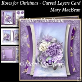 Roses for Christmas - Curved Layers Card