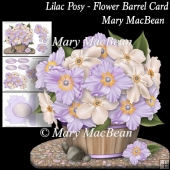 Lilac Posy - Flower Barrel Card
