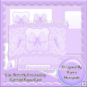 Lilac Butterfly Freestanding Gatefold Popup Card