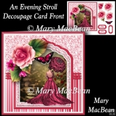 An Evening Stroll - Decoupage Card Front