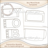 Boy Word Book Template Commercial Use