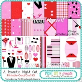 A Romantic Night Out Card/Craft Kit