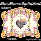 Flora Flowers Pop Out Card
