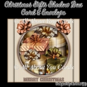 Christmas Gifts Shadow Box Card