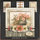 Vintage Birthday Flowers Card Kit 1043