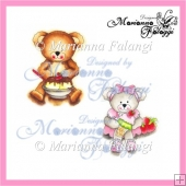 Ice Cream Bears Boy and Girl Digital Stamps