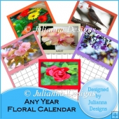 Any Year Floral Calendar